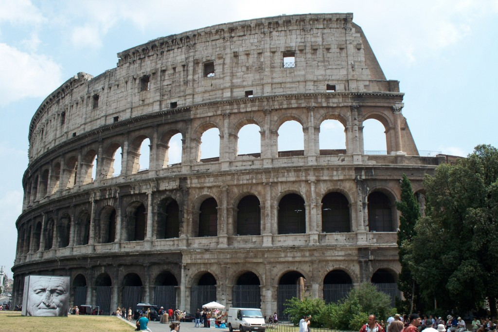 The colosseum as of seven hours ago